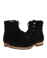 Armani Jeans Suede Lace Up Boot Lace Up Boots