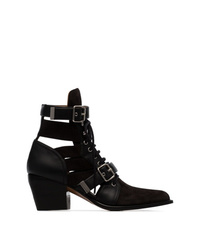 Chloé Black Reilly 60 Suede Leather Boots
