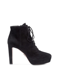 Prada Lace Up Ankle Boots