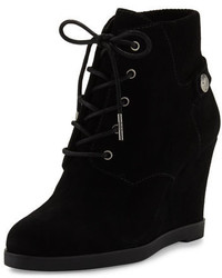 MICHAEL Michael Kors Michl Michl Kors Carrigan Suede Wedge Ankle Boot Black