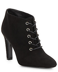 Diane von Furstenberg Skylar Suede Lace Up Ankle Boots