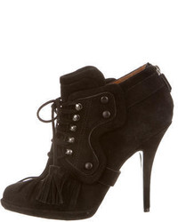 Givenchy Suede Kilt Ankle Boots