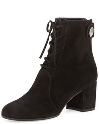 Gianvito Rossi Suede Lace Up Ankle Boot