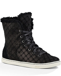 UGG Croft Double Diamond Suede Cuff Able Lace Up Sneakers
