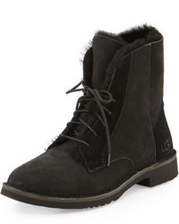 Quincy shearling fur combat boot medium 987648