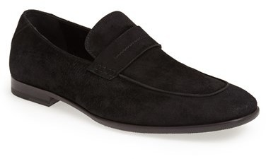2cd7831d6f0 ... Black Suede Loafers Carlo Pazolini Suede Penny Loafer ...