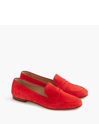 J.Crew Charlie Penny Loafers In Suede