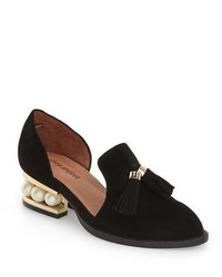 Jeffrey Campbell Civil Pearly Heeled Beaded Tassel Loafer