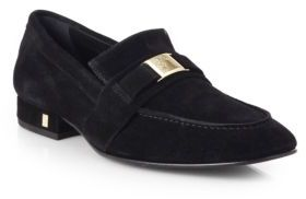 947a48fc96c ... Versace Collection Medusa Logo Suede Loafers ...