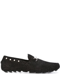 Philipp Plein Nickel Plated Loafers