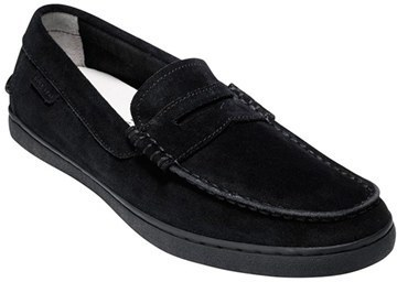 1be4bc55cdc ... Black Suede Loafers Cole Haan Pinch Suede Penny Loafer ...