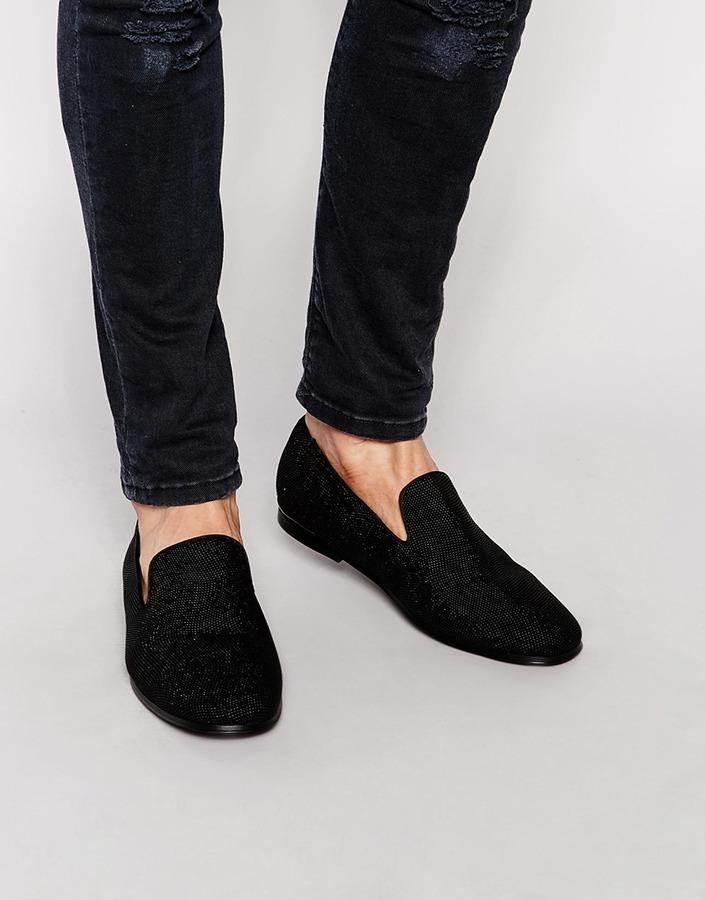 Aldo Wesley Leather Dot Dress Slippers