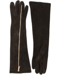 Dsquared 2 suede long zip gloves medium 129875
