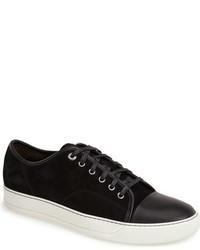 Black Suede Low Top Sneakers