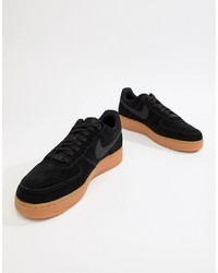 half off 6ec6b e83f9 ... Nike Air Force 1 07 Lv8 Suede Trainers In Black Aa1117 001
