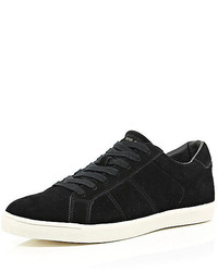 River Island Black Suede Sneakers