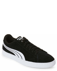 Puma Black White Suede Classic Badge Low Top Sneakers