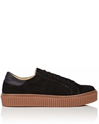 Barneys New York Creeper Sole Suede Sneakers
