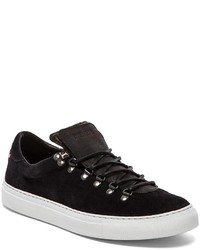 Black Suede Marostica Low Sneakers Diemme