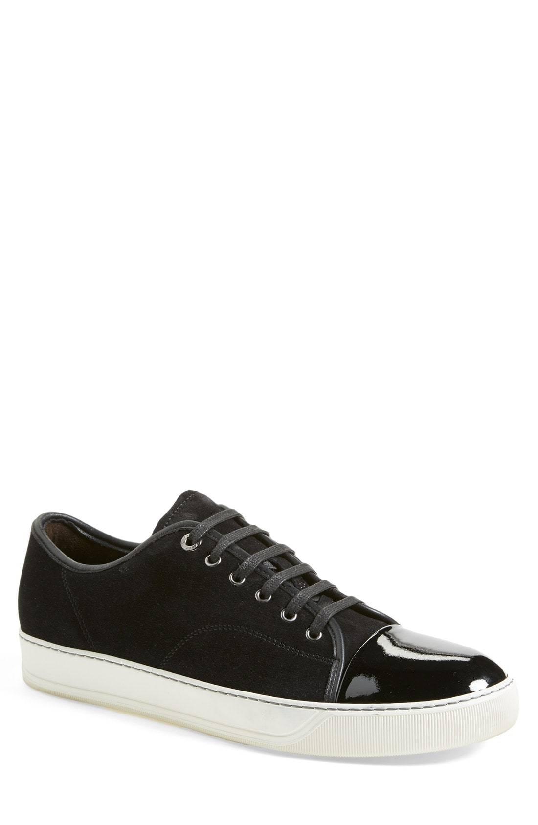 Lanvin Low Top Suede Sneaker, $490