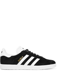 adidas Originals Gazelle Suede And Leather Sneakers Black