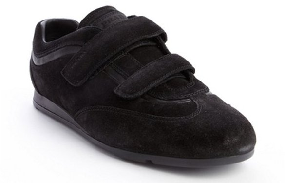 how to tell a fake prada - Prada Sport Black Suede Double Strap Sneakers | Where to buy \u0026amp; how ...