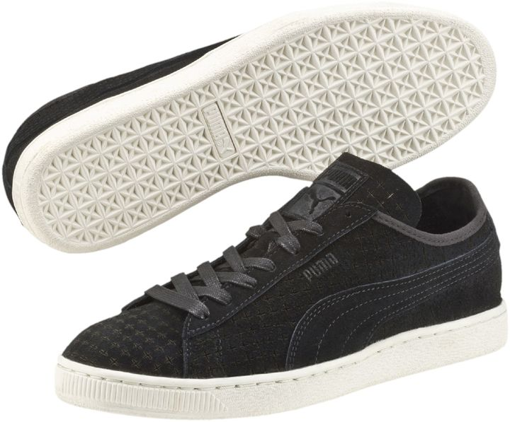 Men's Fashion › Footwear › Sneakers › Low Top Sneakers › Black Suede Low Top  Sneakers Puma Suede Courtside Perf ...