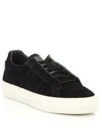 Helmut Lang Suede Low Top Sneakers