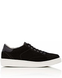 Barneys New York Wedge Sole Suede Sneakers