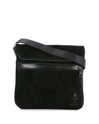Black Suede Messenger Bag
