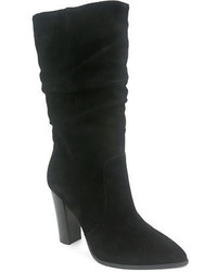 Tahari Alanna Suede Slouchy Mid Calf Boots