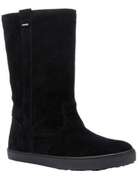 Geox Amaranth Abx Boot D54z4a Black Soft Suede Boots