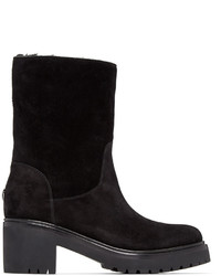 Moncler Black Suede Cassandre Boots