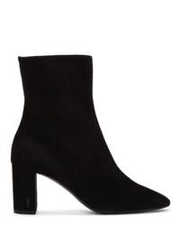 Saint Laurent Black Suede Loulou Boots