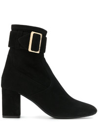 Burberry Buckle Detail Boots