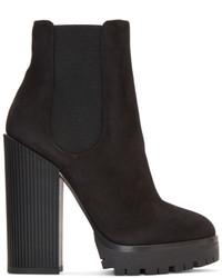 Dolce & Gabbana Dolce And Gabbana Black Suede Platform Boots