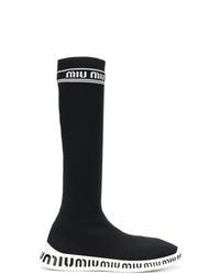 Miu Miu Knit Slip On Boots