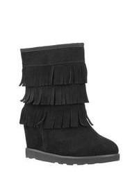 Lugz Wenona Black Suede Boots