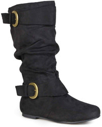 Journee Collection Shelley 12 Wide Calf Mid Rise Slouch Boots