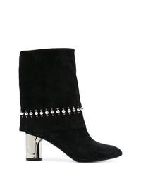 Casadei Studded Foldover Boots