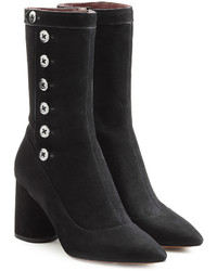 Marc Jacobs Suede Boots With Button Embellisht