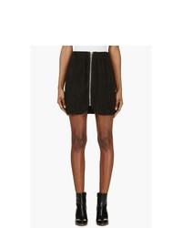 Acne Studios Black Suede Mina Mini Skirt