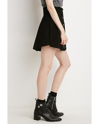 36b7d0699 Forever 21 Contemporary Buttoned Suede Skirt, $37 | Forever 21 ...