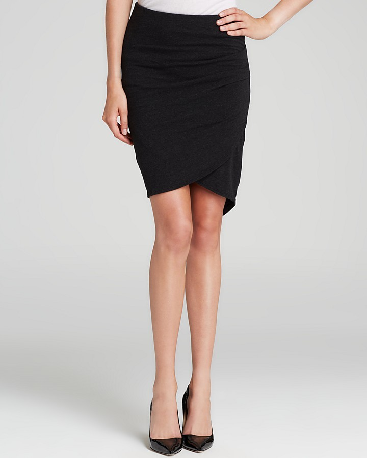 Black Suede Mini Skirt James Perse Skirt Faux Suede ...