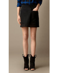 Burberry Suede A Line Skirt