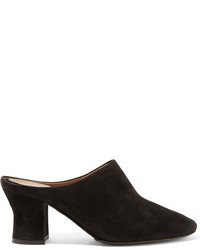 The Row Adela Suede Mules Black