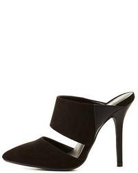 Charlotte Russe Wild Diva Lounge Pointed Toe Mule Heels