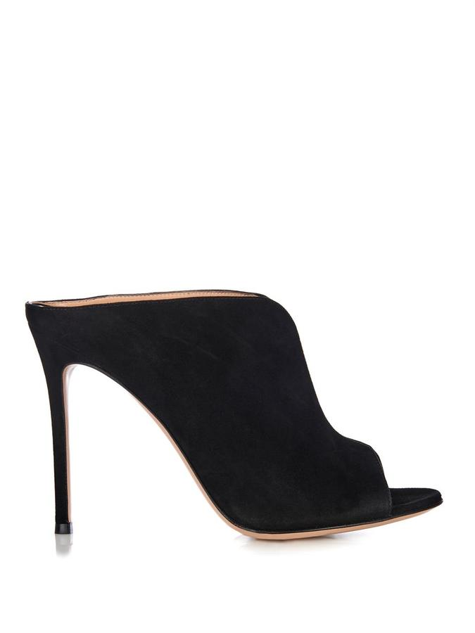 Gianvito Rossi Suede mules Good Selling Cheap Online Perfect Buy Cheap Best Place Br4ea