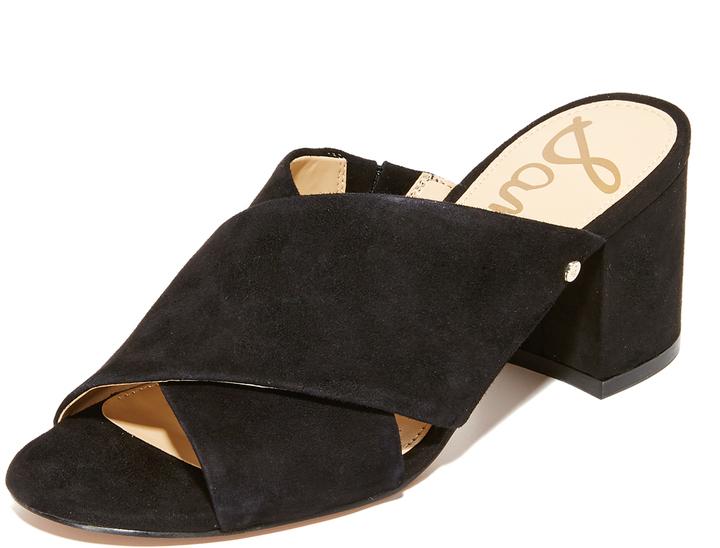 24994a15499 Women s Fashion › Shoes › Sandals › Mules › shopbop.com › Sam Edelman › Black  Suede Mules Sam Edelman Stanley Block Heel Mules ...