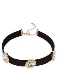 Cara Crystal Station Choker Necklace